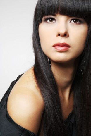 Girl with long black hair